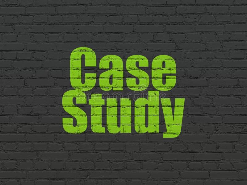 Aprendizaje de concepto: Estudio de caso en fondo de la pared libre illustration