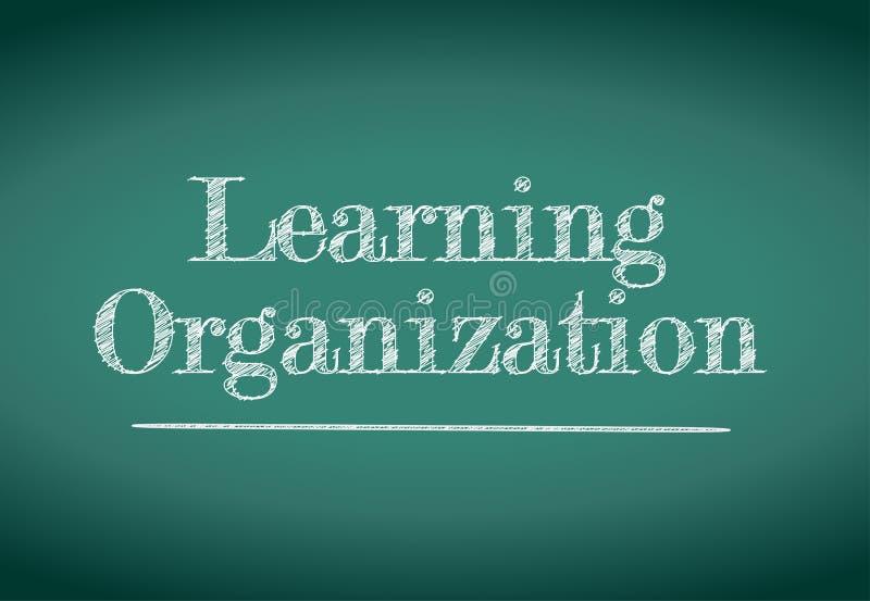 Aprendizaje de diseño del ejemplo de la organización ilustración del vector