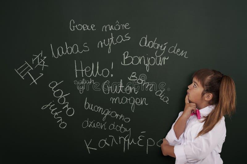 Aprendizaje de idiomas extranjeros imagen de archivo