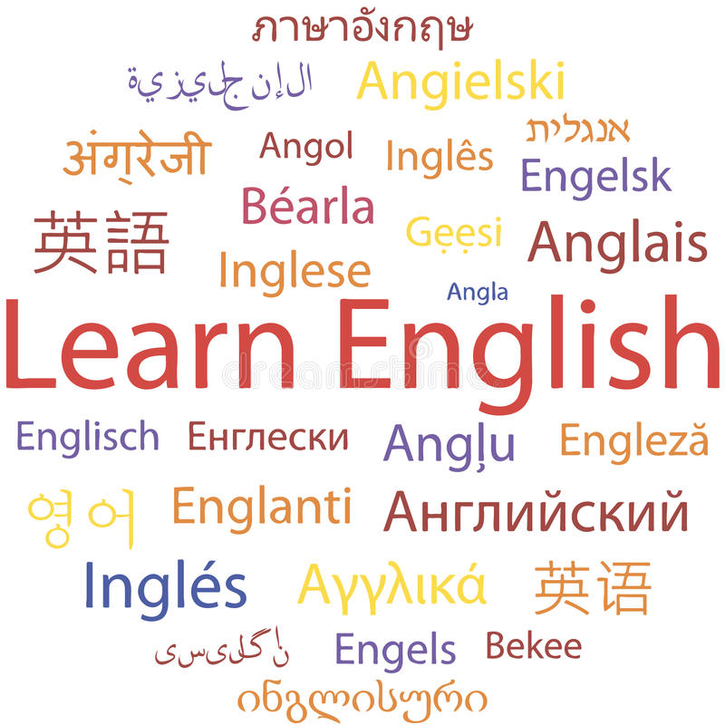 Aprendizaje de inglés imagenes de archivo