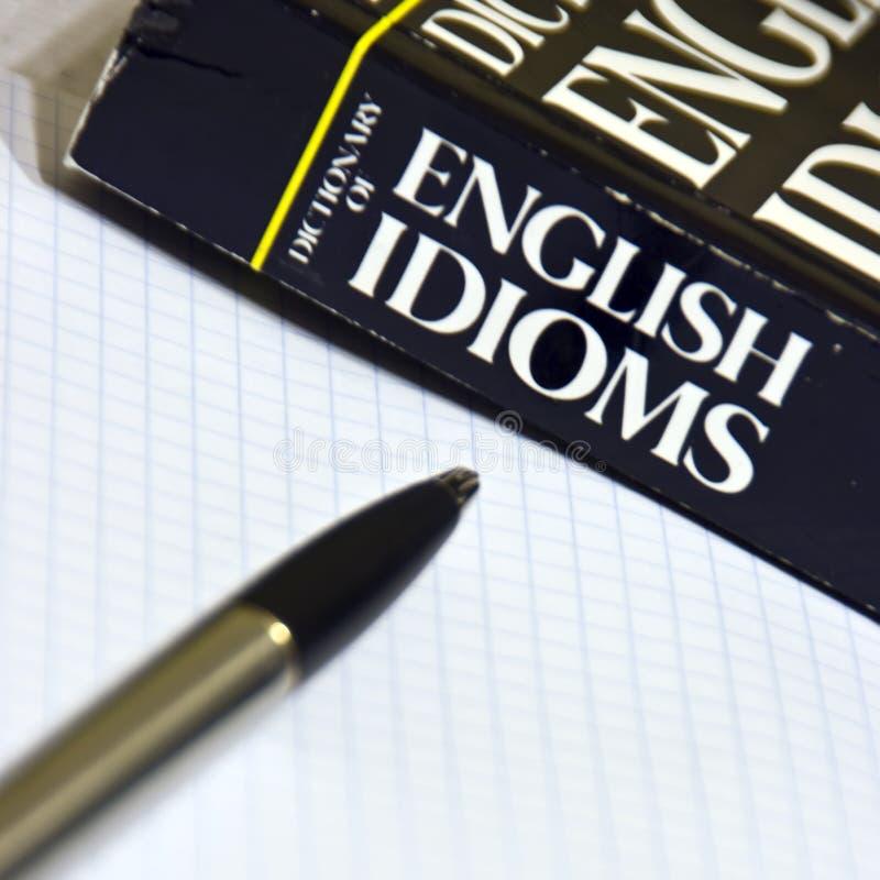 Aprendizaje de inglés foto de archivo libre de regalías