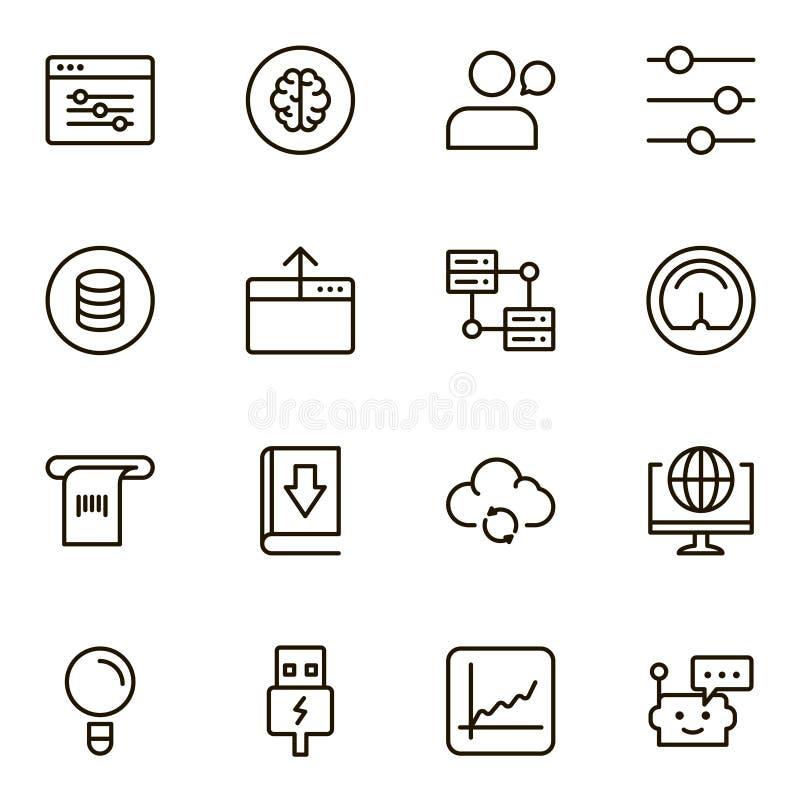 Aprendizaje de máquina stock de ilustración