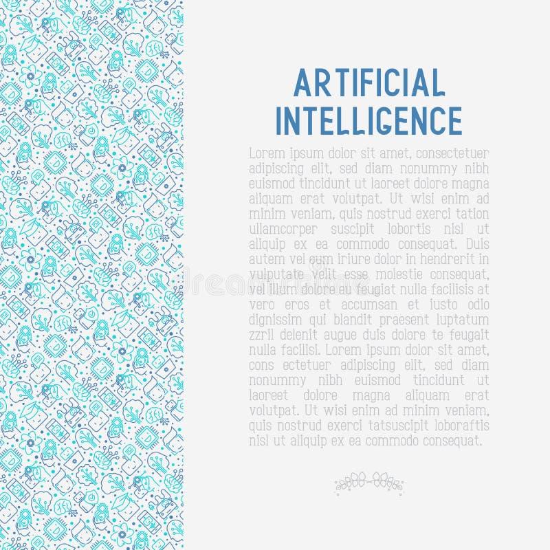 Aprendizaje de máquina, concepto de la inteligencia artificial ilustración del vector