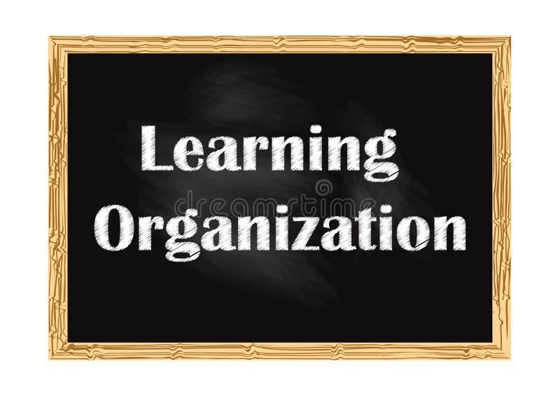 Aprendizaje del ejemplo del vector del aviso del negocio de la pizarra de la organización ilustración del vector