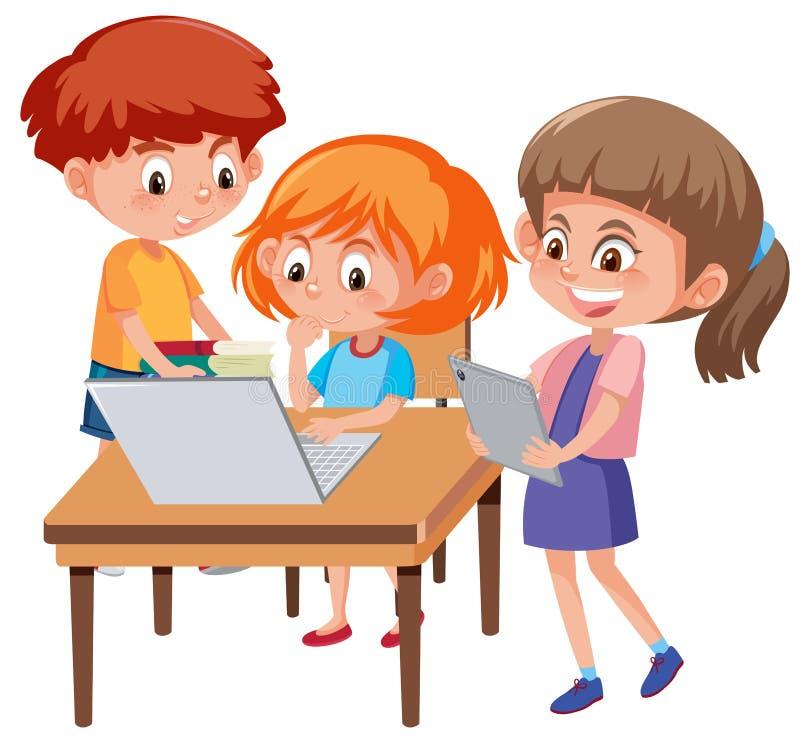 Aprendizaje del muchacho y de la muchacha libre illustration