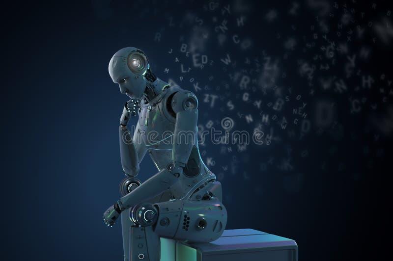 Aprendizaje del robot del Ai libre illustration