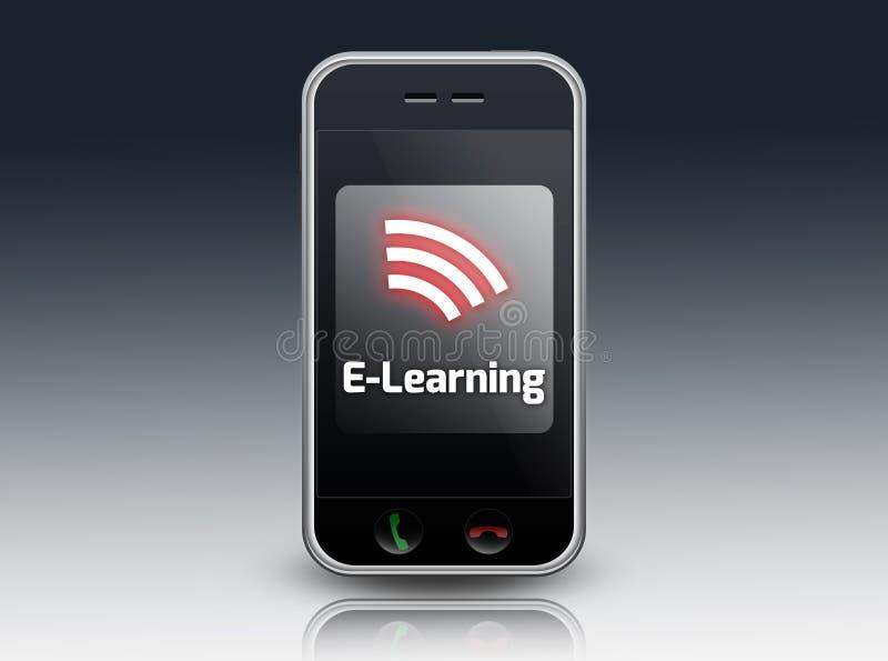 Aprendizaje electrónico de Smartphone libre illustration