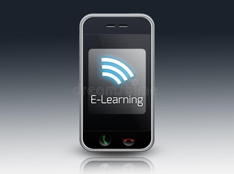Aprendizaje electrónico de Smartphone stock de ilustración