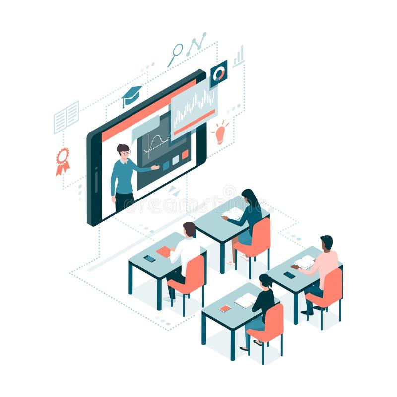 Aprendizaje electrónico y educación ilustración del vector