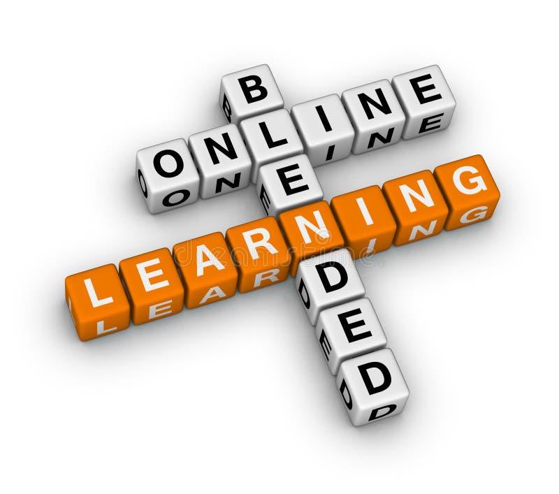 Aprendizaje en línea mezclado stock de ilustración