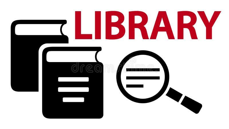 Aprendizaje en símbolo del concepto de la biblioteca stock de ilustración