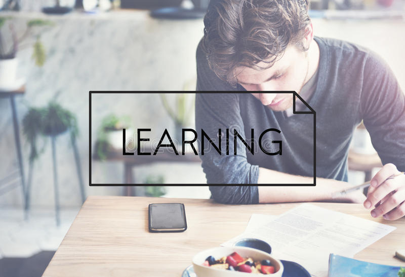 Aprendizaje estudiando concepto de las habilidades del entrenamiento foto de archivo libre de regalías