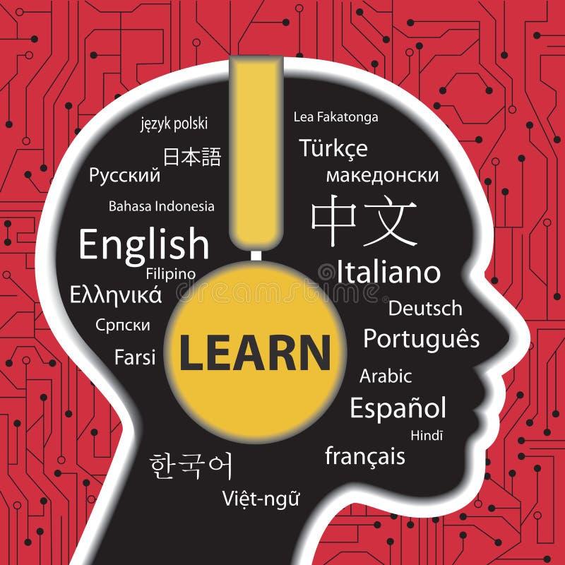 Aprendizaje hablar concepto de los otros idiomas libre illustration