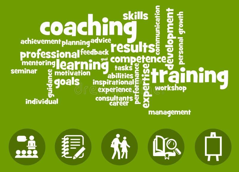 Aprendizaje y el entrenar stock de ilustración