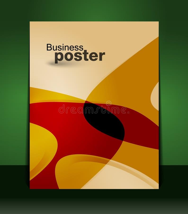 Apresentação à moda do cartaz do negócio ilustração royalty free