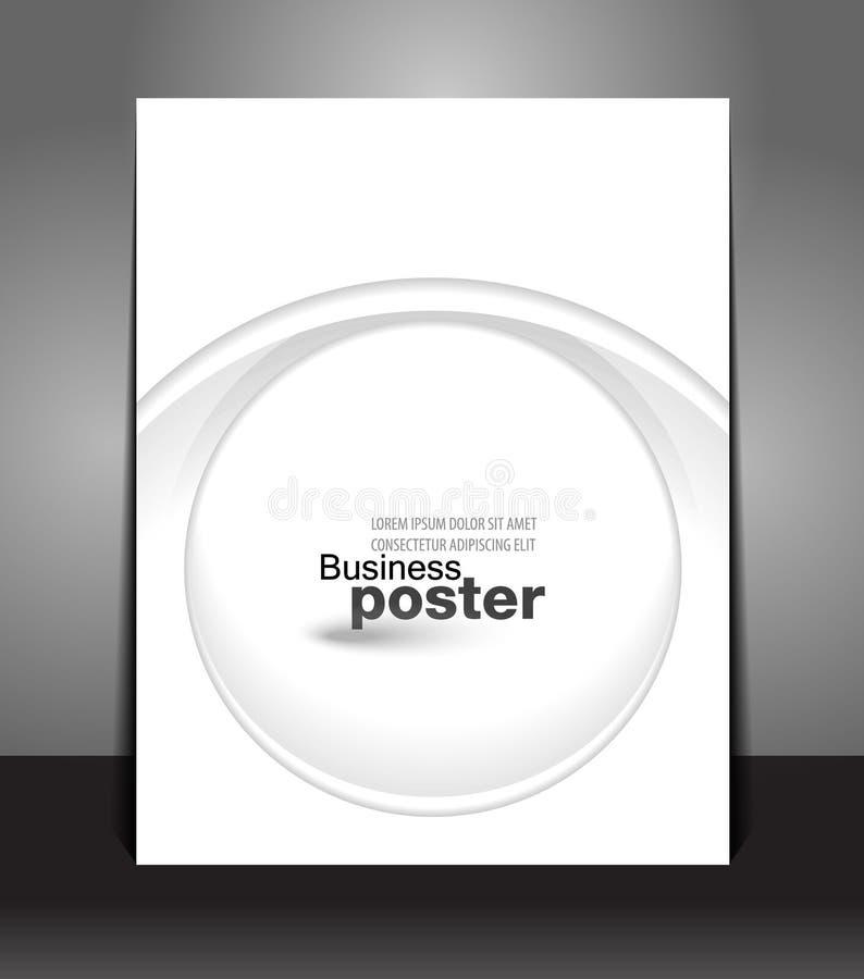 Apresentação à moda do cartaz do negócio. Projeto branco ilustração do vetor