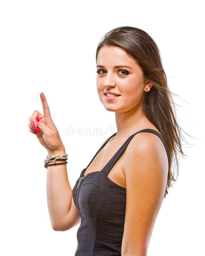 Apresentação confiável nova da mulher imagens de stock