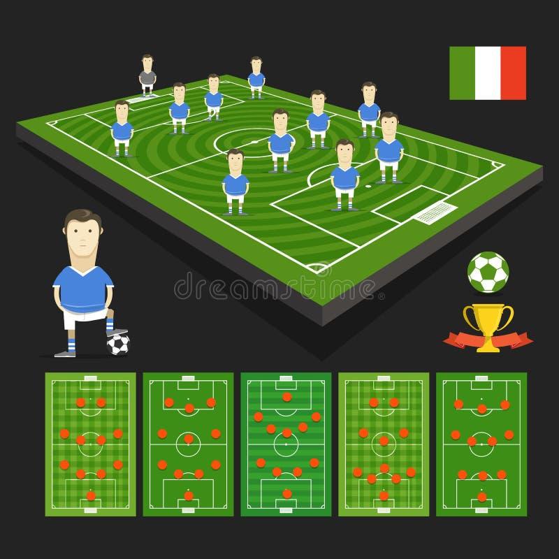 Apresentação da equipe do campeonato do mundo do futebol ilustração do vetor