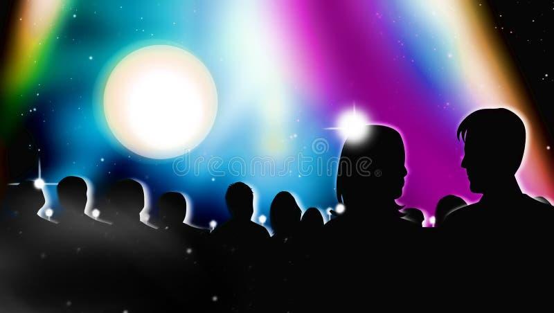 Download Apresentação Da Mostra Da Vida Ilustração Stock - Ilustração de businessman, fêmea: 16857907