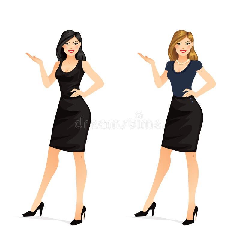 Apresentação da mulher ilustração royalty free