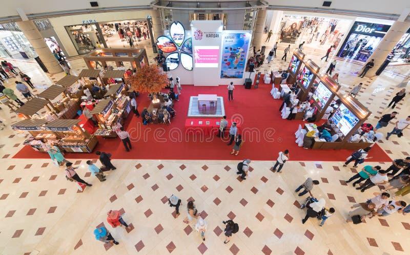 Apresentação da região de Japans Kansai na alameda de Suria KLCC, Kuala foto de stock royalty free