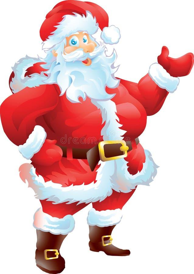 Apresentação de Santa Claus ilustração royalty free