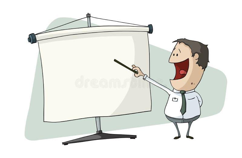 Apresentação de tela ilustração stock