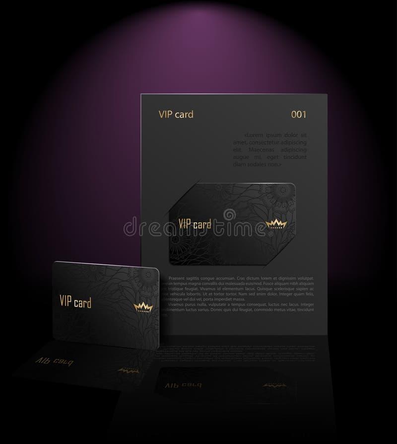 Apresentação do cartão do Vip (preto) ilustração royalty free