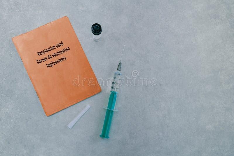 Apresentação do conceito de uma vacinação foto de stock