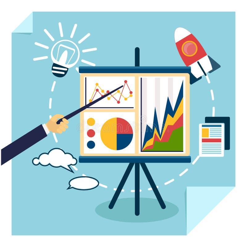 Apresentação do conceito do desenvolvimento de negócios ilustração royalty free