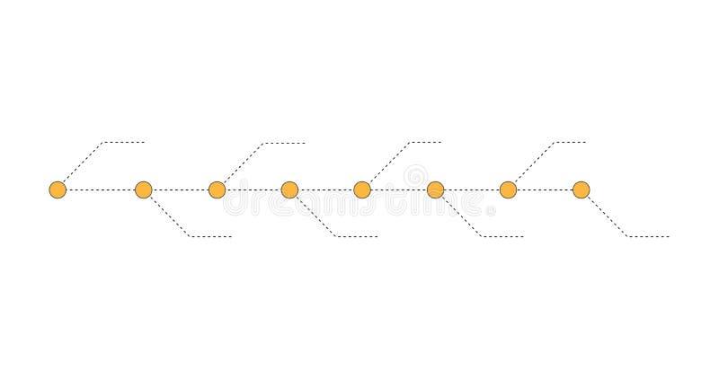A apresentação do espaço temporal para 8 vetores do projeto dos anos, do infographics do espaço temporal e negócio da apresentaçã ilustração stock