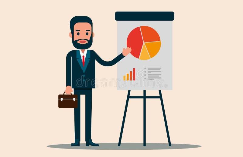 Apresentação do líder de negócio para a estratégia empresarial Busin do vetor ilustração stock