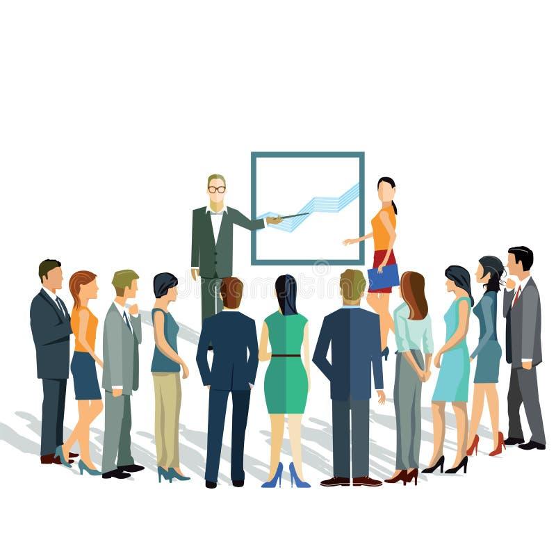 Apresentação do negócio para o grupo ilustração stock