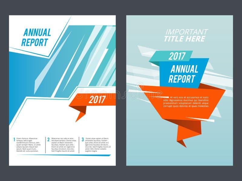 Apresentação do projeto Molde do vetor da disposição do folheto ou do informe anual ilustração royalty free