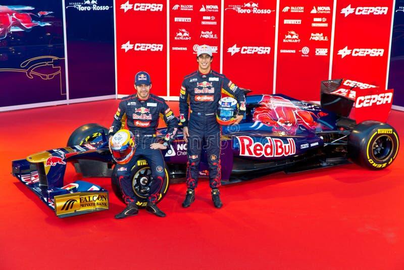 Apresentação do Toro Rosso STR7, 2012 fotografia de stock royalty free