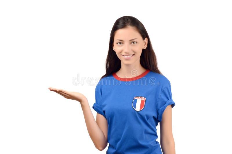Apresentação francesa bonita da menina imagens de stock