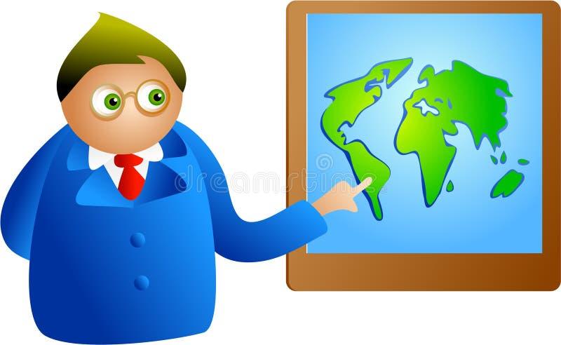 Apresentação global ilustração do vetor
