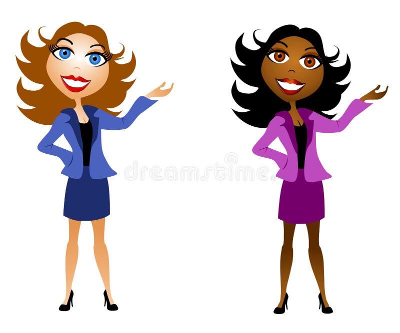 Apresentadores das mulheres de negócio ilustração royalty free