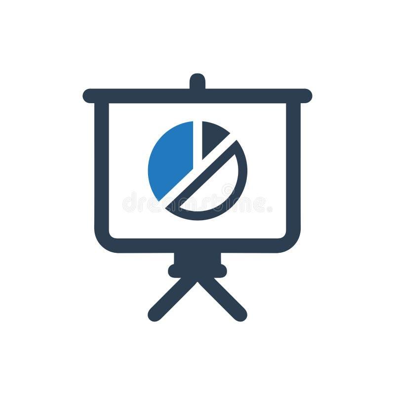 Apresentando o ícone do relatório comercial ilustração do vetor