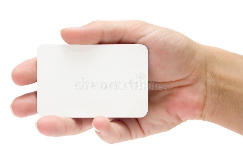 Apresentando um cartão de crédito imagem de stock