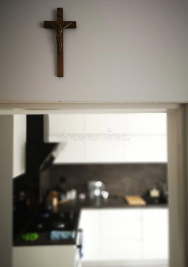 Apresentar crucifixos domésticos imagem de stock