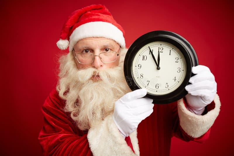 Apresse-se acima para o Natal fotografia de stock