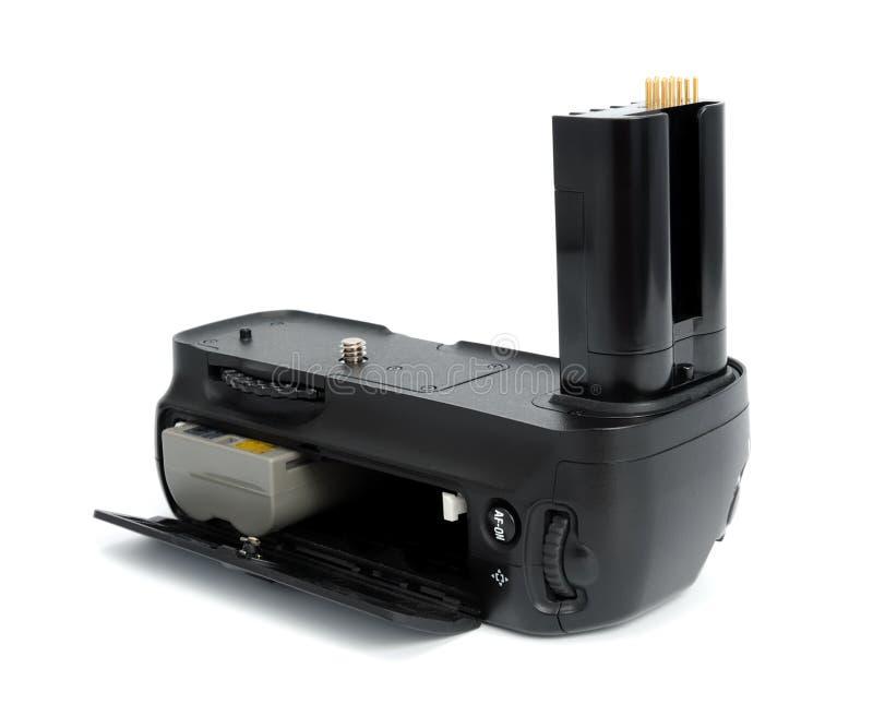 Apretón de la batería de la cámara fotos de archivo