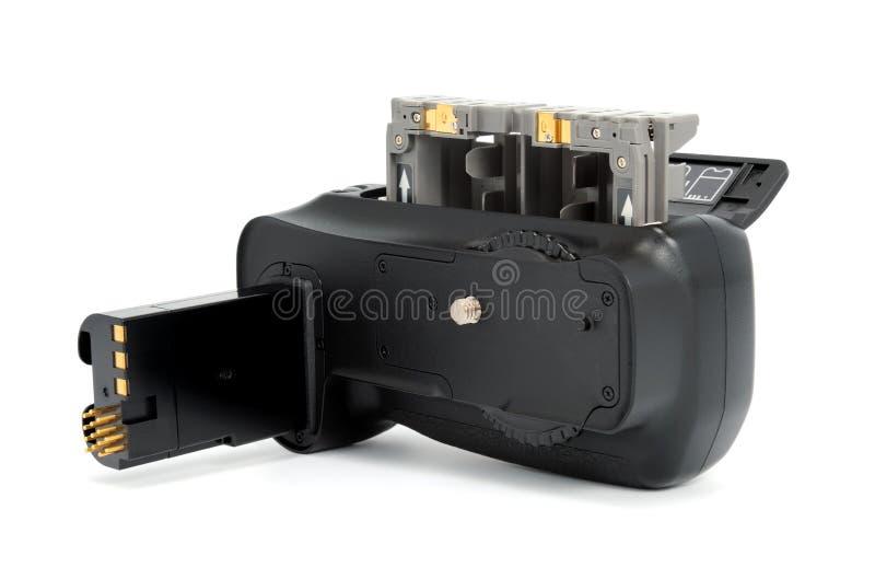 Apretón de la batería de la cámara imágenes de archivo libres de regalías
