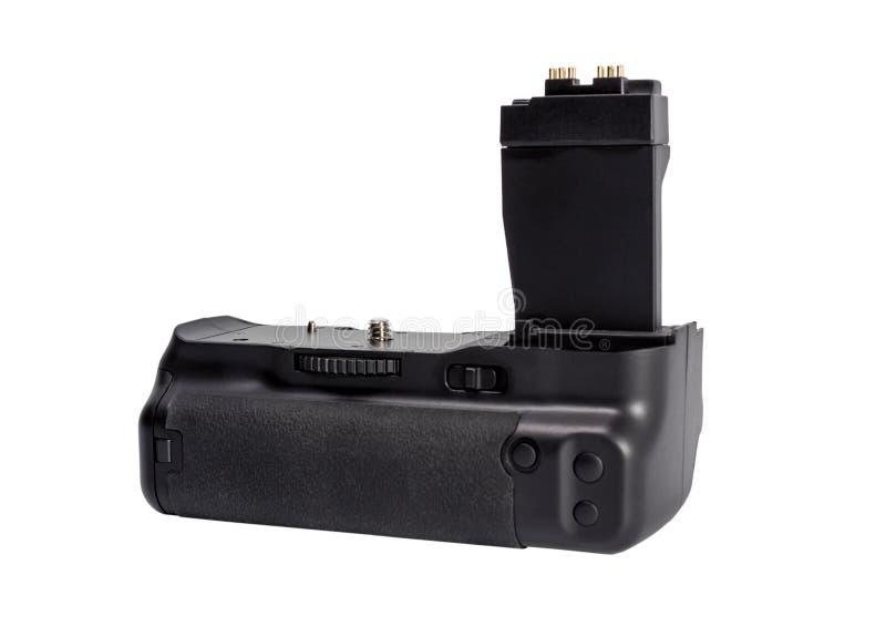 Apretón de la batería para la cámara moderna de DSLR fotografía de archivo libre de regalías