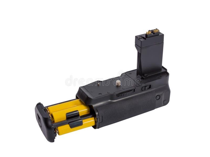 Apretón de la batería para la cámara moderna de DSLR imagenes de archivo