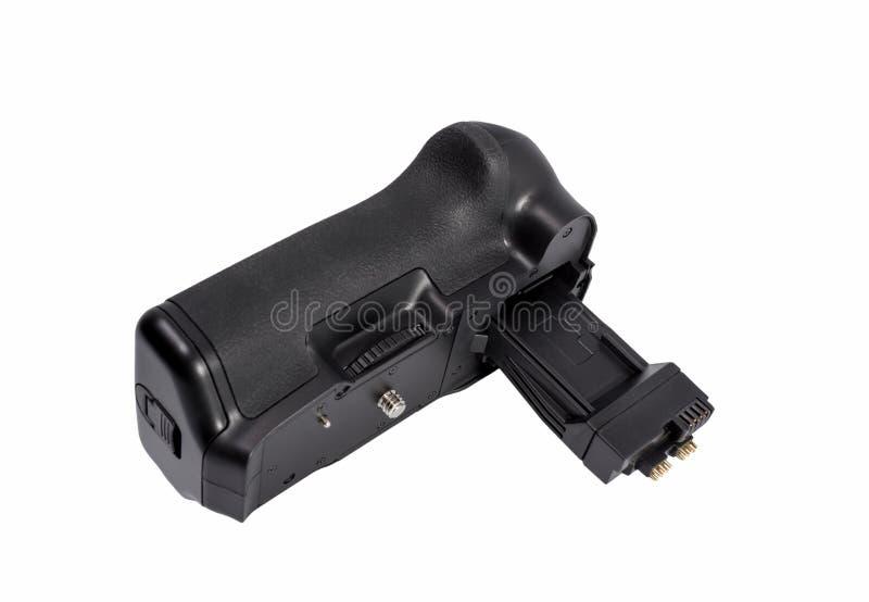 Apretón de la batería para la cámara moderna de DSLR foto de archivo