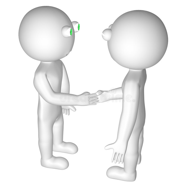 apretón de manos 3D foto de archivo