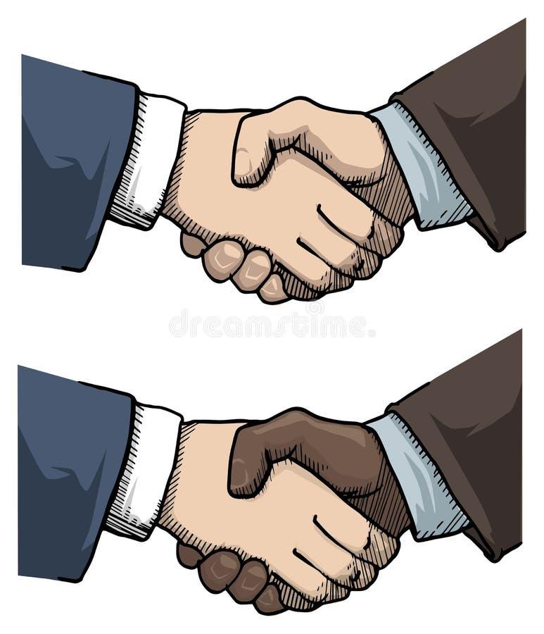 Apretón de manos ilustración del vector