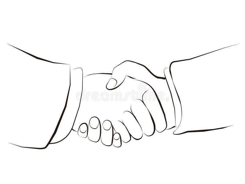 Apretón de manos stock de ilustración